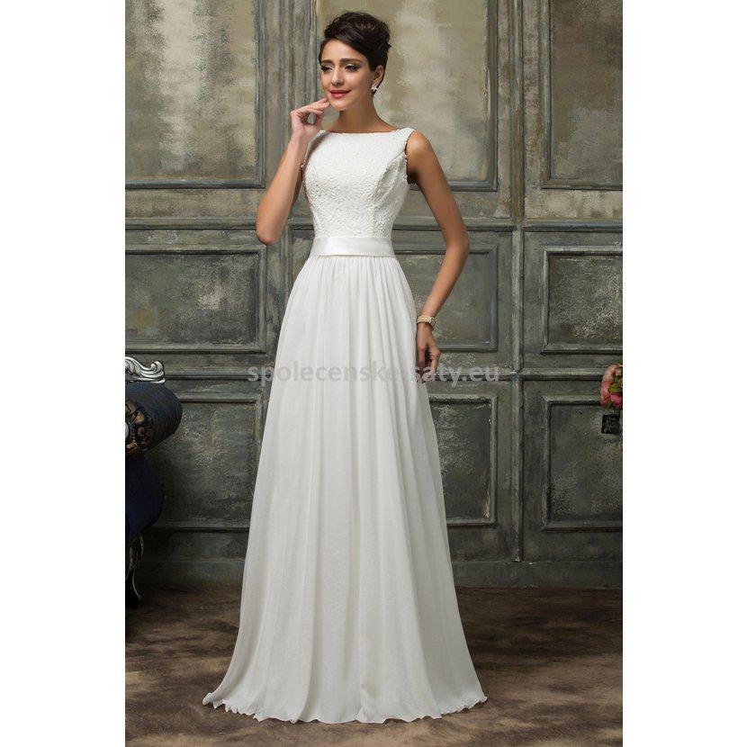 ffabb8cac51 bile-dlouhe-svatebni-saty-krajka-vysoke-postavy1.JPG. luxusní svatební šaty  na hrubší ramínka ...
