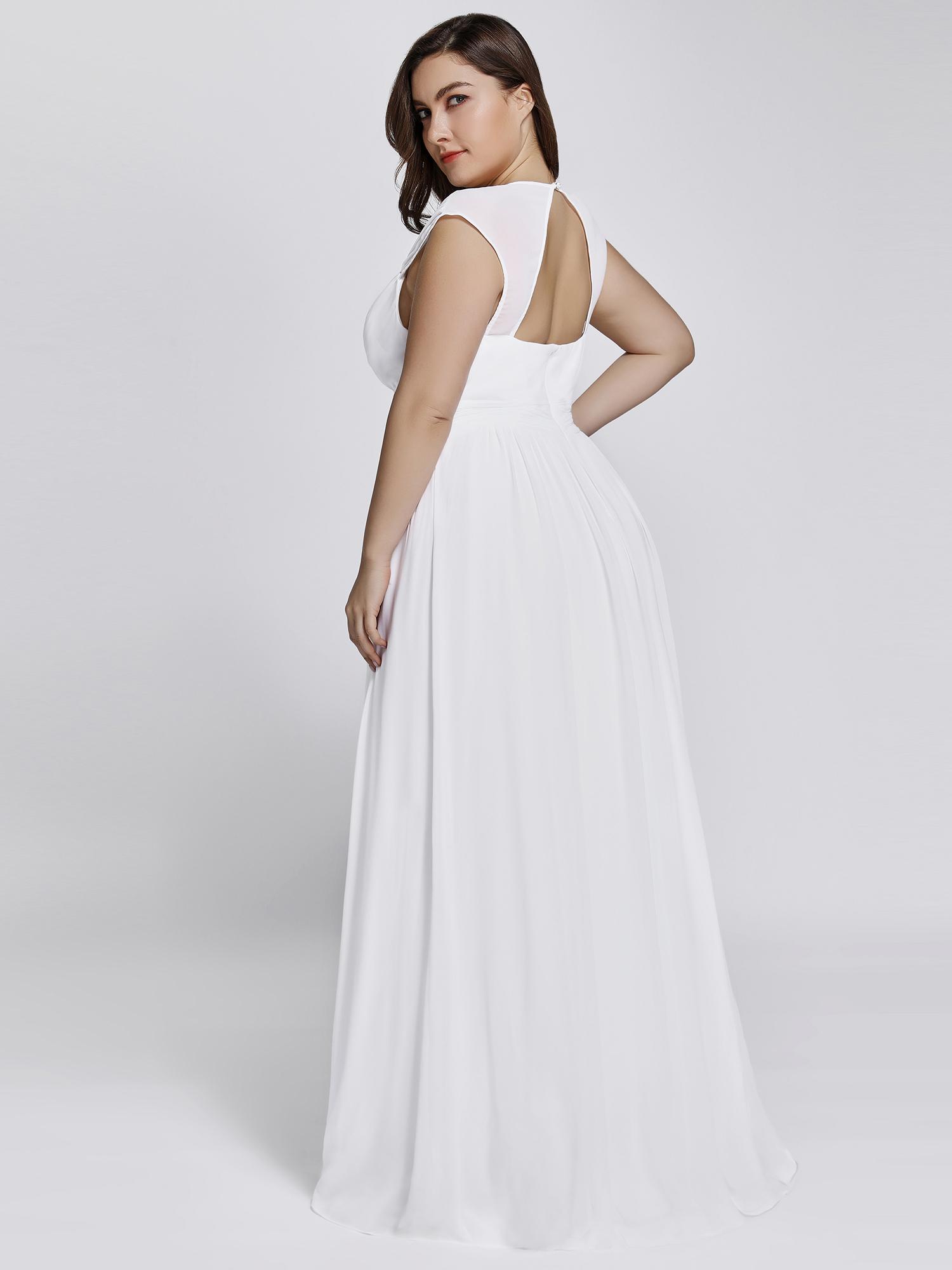 d493abb4f9e1 Bílé dlouhé svatební šaty ve stylu řecké bohyně 50 pro plnoštíhlé ...
