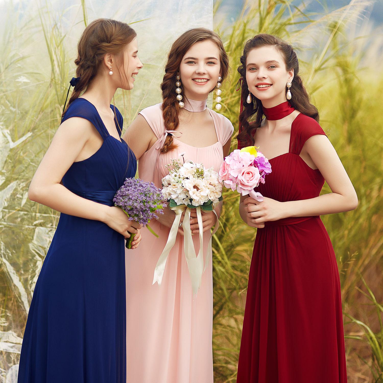 Šaty pro družičky svědkyně na svatbu levně  a1d8388d1d