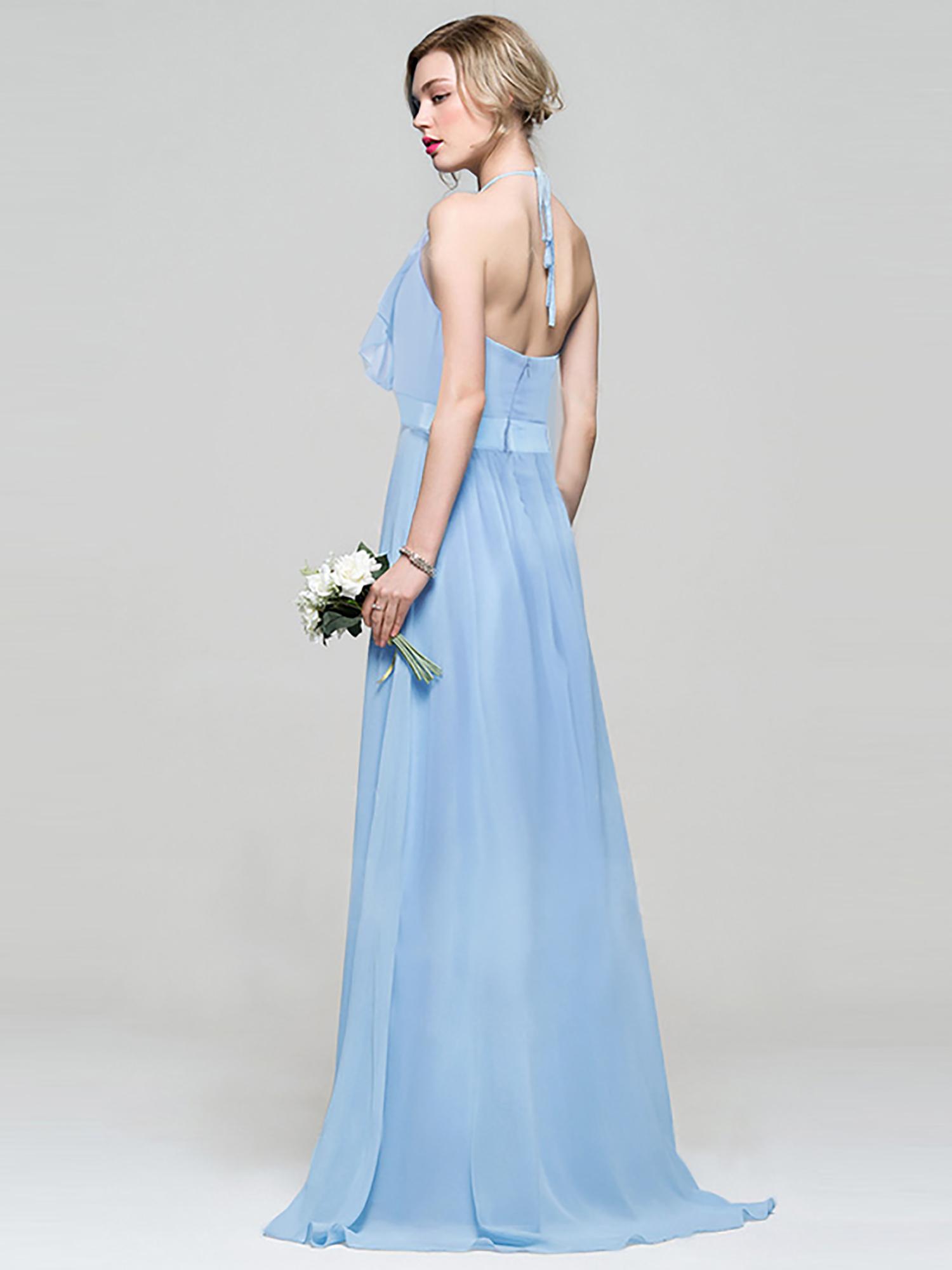 Bledě modré světlé šaty na svatbu host 42 XL  5900231ed3