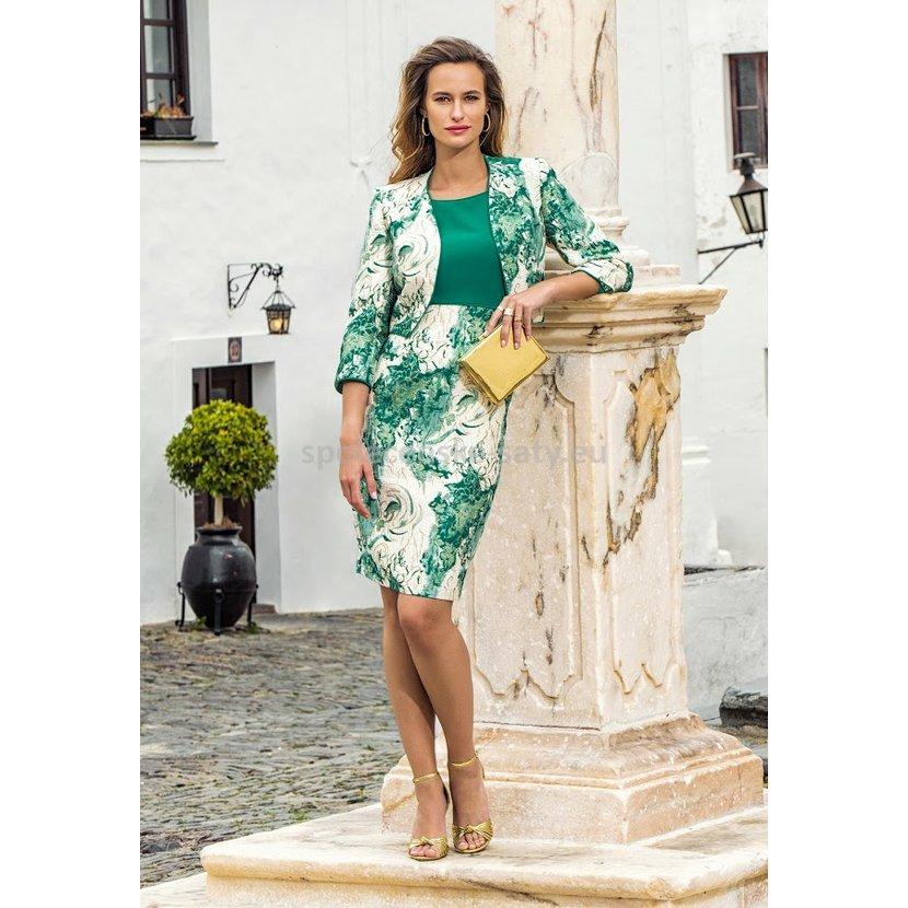 67e816f95e7 Luxusní krátké šaty pro svatební maminku s kabátkem 44