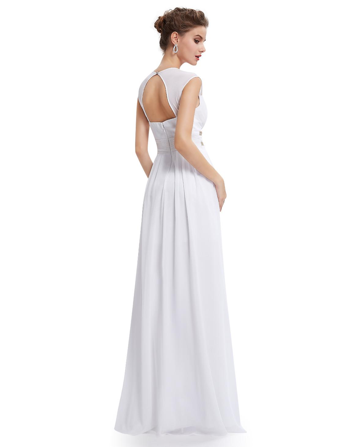 acc831995d4 Bílé dlouhé svatební šaty ve stylu řecké bohyně 36-38
