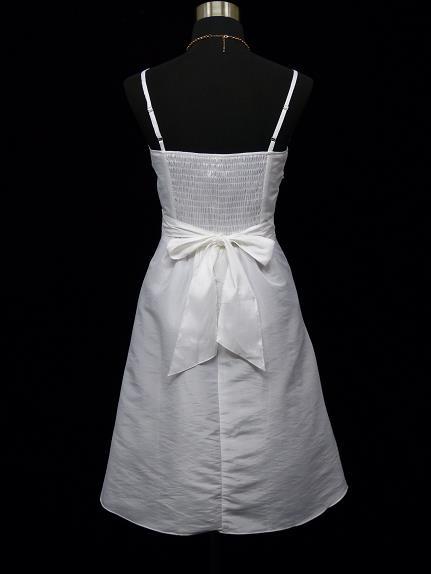 Bílé krátké svatební plesové šaty na ramínka 40-42 L-XL ... 55b57c3851