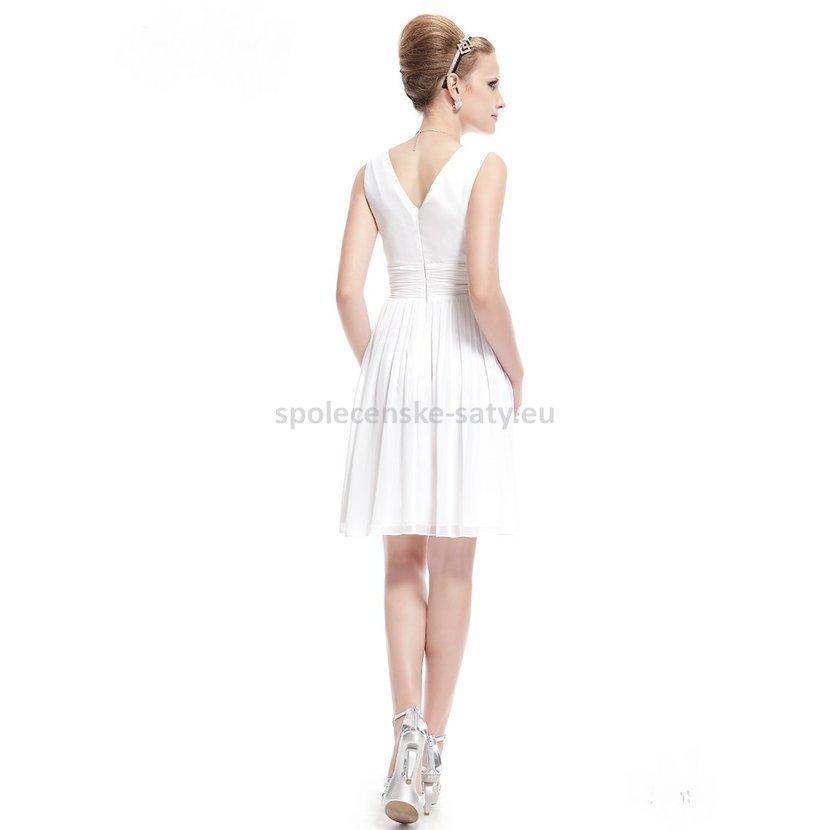 bílé krátké svatební šaty na hrubší ramínka Ostrava Frenštát Valašské  Meziříčí cd734d8924b