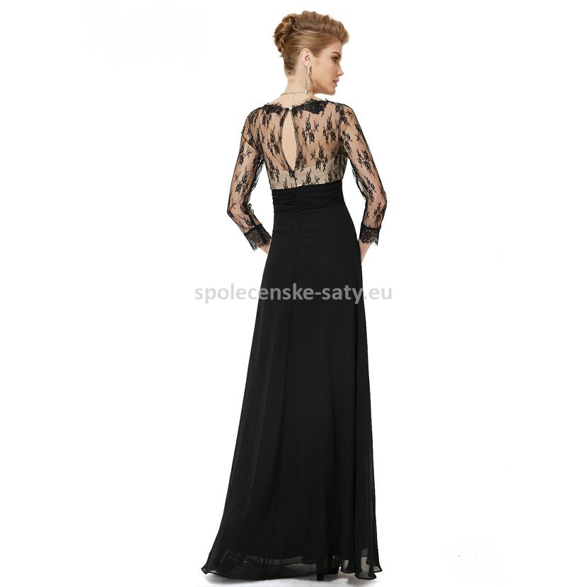 691cb60680c luxusní velké večerní šaty s rukávkem na ples svatbu do opery Jihlava Kladno