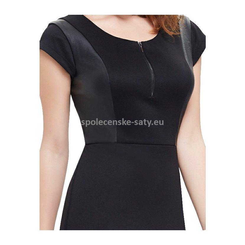 Černé pouzdrové šaty s mini rukávkem business 38 M  cf7623294b4