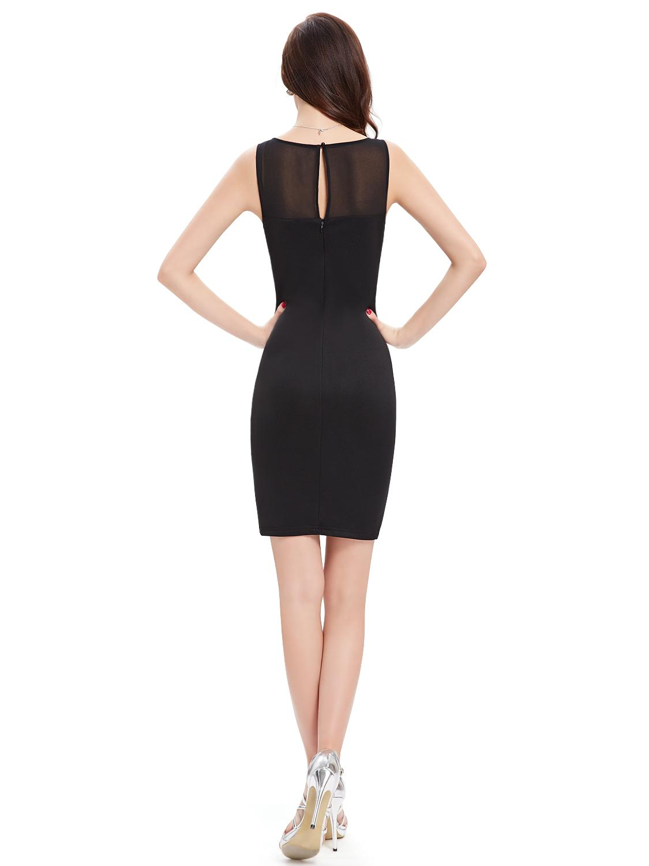 ebe880cb726b Černé krátké pouzdrové šaty koktejlky na večírek 42 XL
