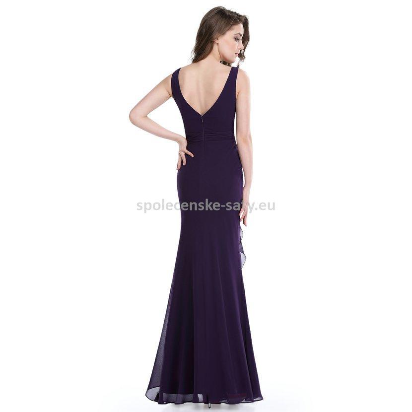 7649576954c fialové dlouhé večerní šaty i pro starší na svatbu ples