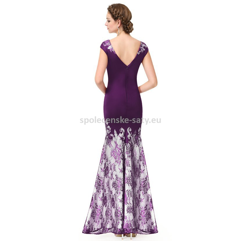 f7c315c76be Fialové dlouhé luxusní šaty s rukávkem na svatbu ples do opery 38 M. luxusní  večerní šaty na ples svatbu do opery pro hudebnice či pěvkyně