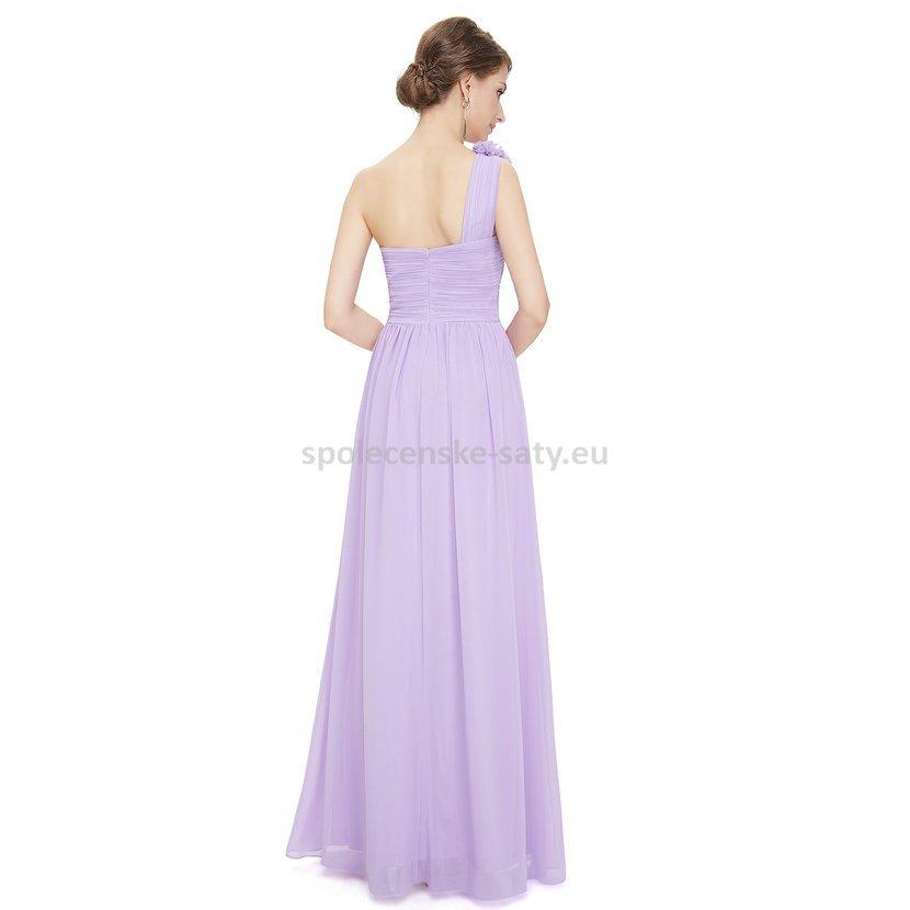 af07112edfe Levandulové dlouhé společenské šaty na jedno rameno 36 S · jednoduché  společenské šaty na jedno rameno svatba levně Frýdek Havířov Třinec