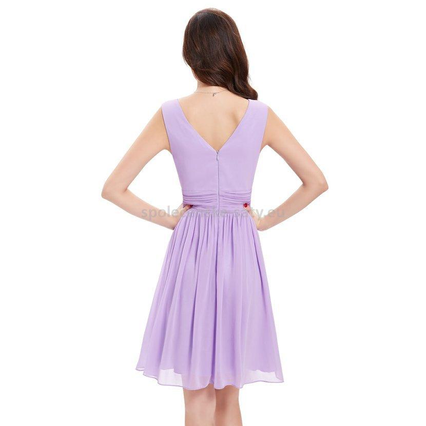 Lila krátké šaty společenské na hrubší ramínka pro svědkyni 44 XXL ... e8d7d92bda0