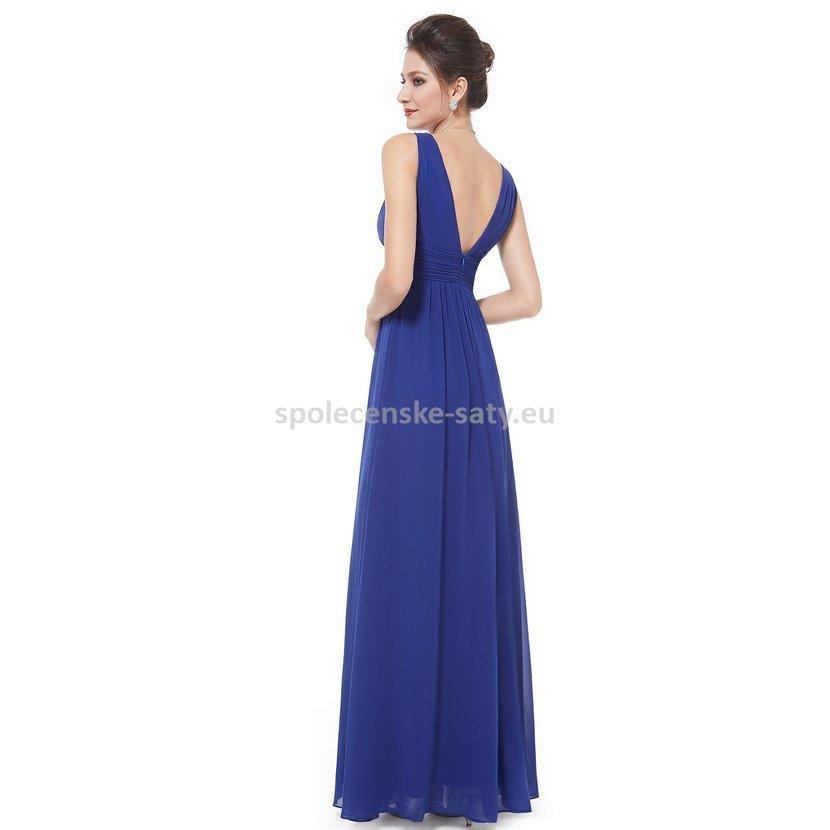 d37d3ce074 Modré dlouhé šaty na hrubší ramínka na svatbu i pro těhulky 42 ...