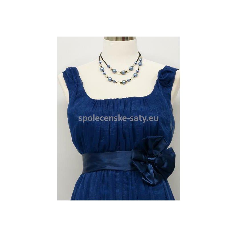 3f8d9503e23b Modré empírové šaty i pro těhotné na svatbu ples nadměrná velikost ...
