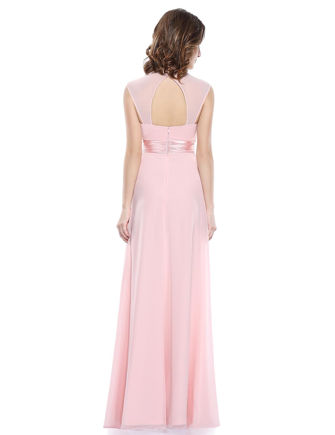 Růžové dlouhé společenské šaty pro svědkyni družičku na svatbu 38-40 ... 06e8a19917