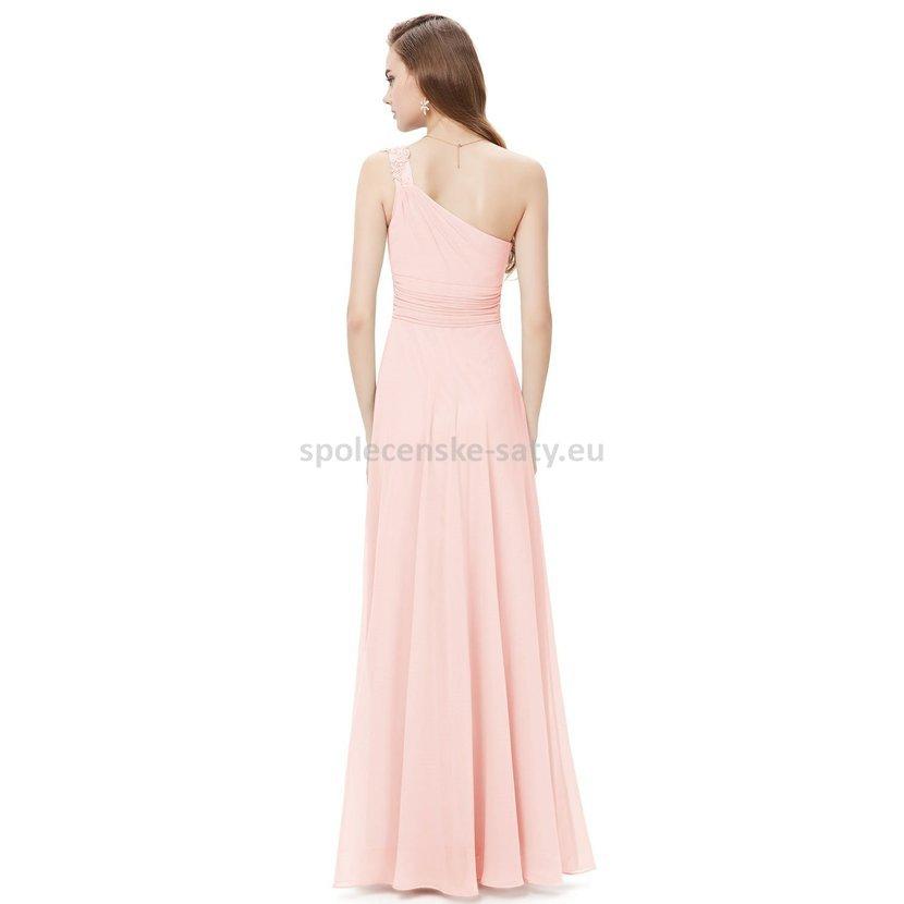 růžové dlouhé večerní šaty na ples galavečer večírek svatbu 64d72063e3