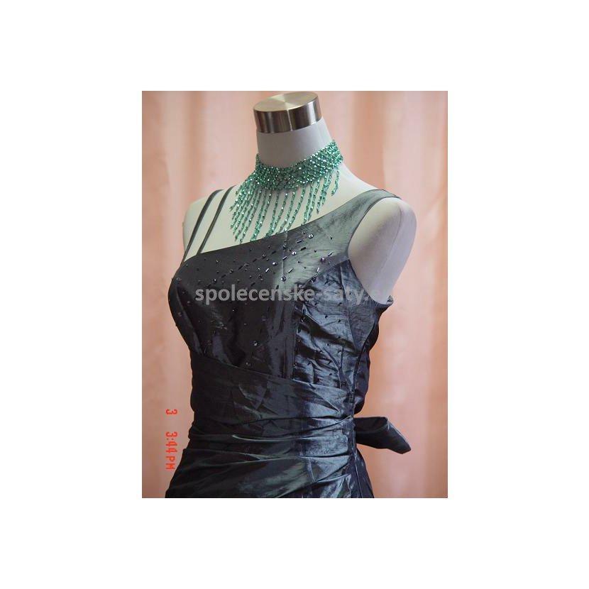 0ee90e68a831 Stříbrné dlouhé společenské svatební plesové šaty pro plnoštíhlé 52 ...