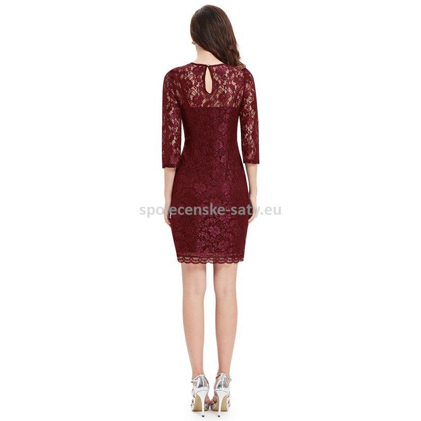 319c756951eb Vínové krátké krajkové šaty s rukávem pro svatební maminku 44 XXL ·  elegantní krajkové šaty pro svatební matku babičku svědkyni hosta