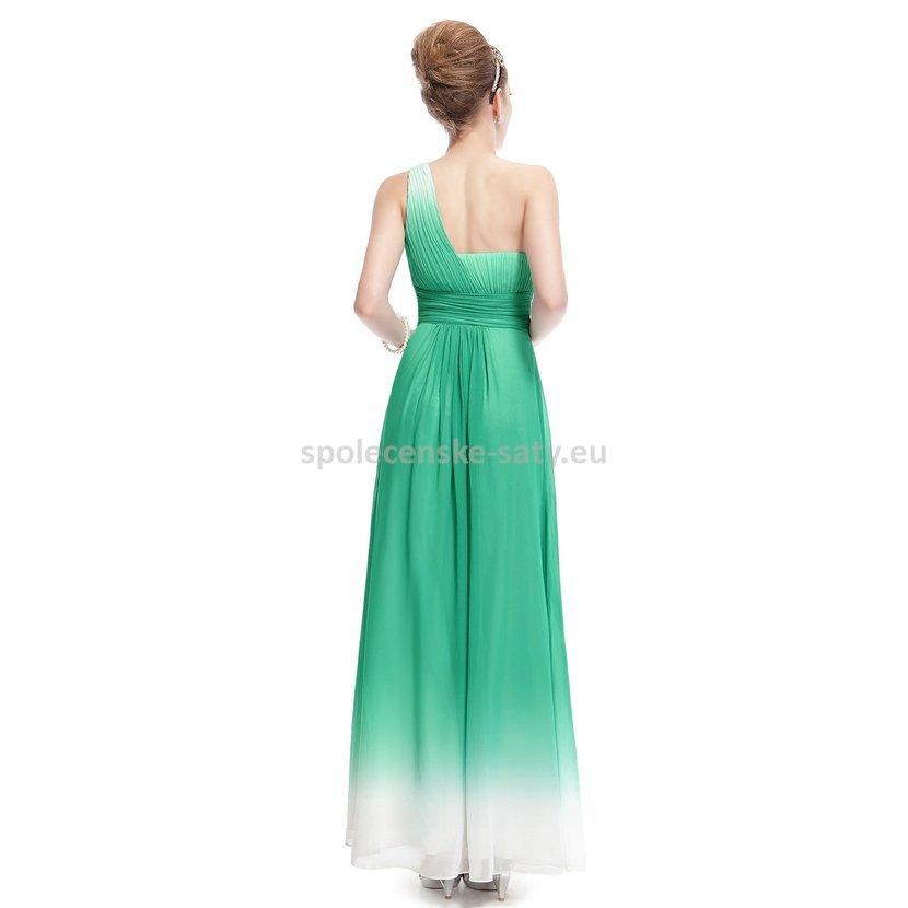 1c5883688d30 ... krémovou na jedno rameno 38 M. zelené bílé dlouhé společenské šaty na jedno  rameno pro svědkyni XS