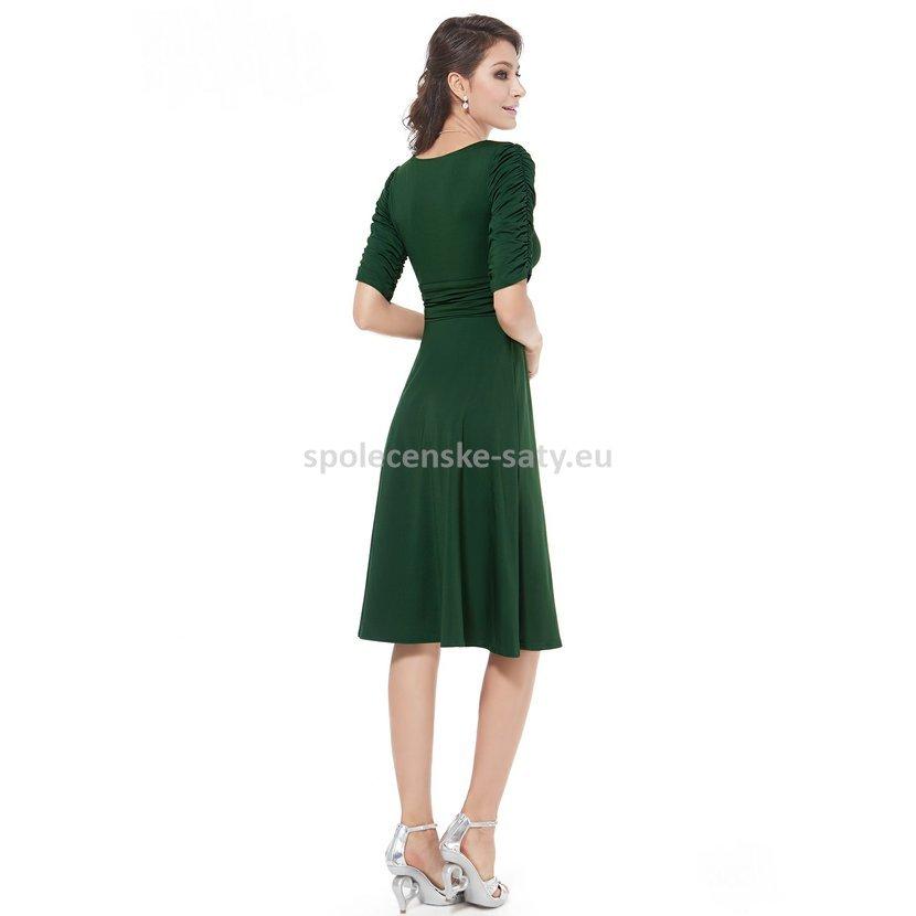 Zelené krátké společenské šaty koktejlky s rukávem na svatbu 34 XS ... bebeb3d9b62