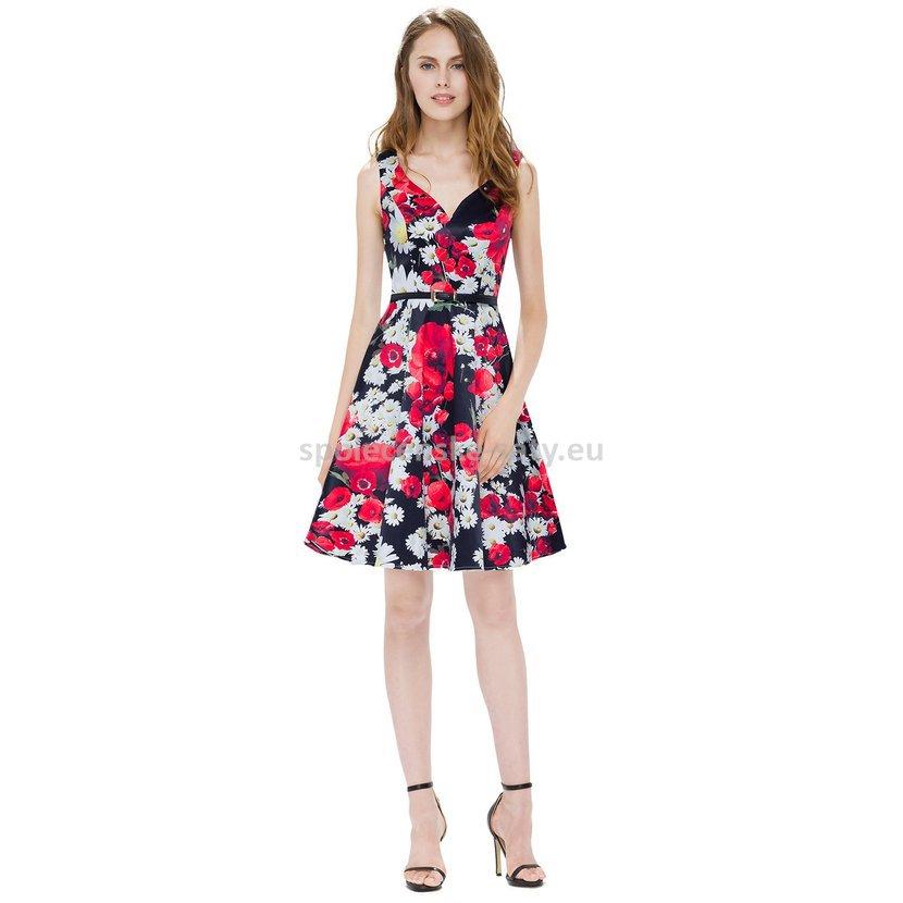 Krátké letní šaty na svatbu pro hosta 40-42  6a0b8629c0