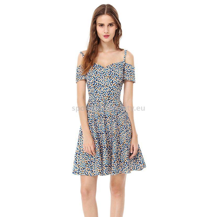 Barevné krátké letní šaty na svatbu 34-36  e8722a65f5