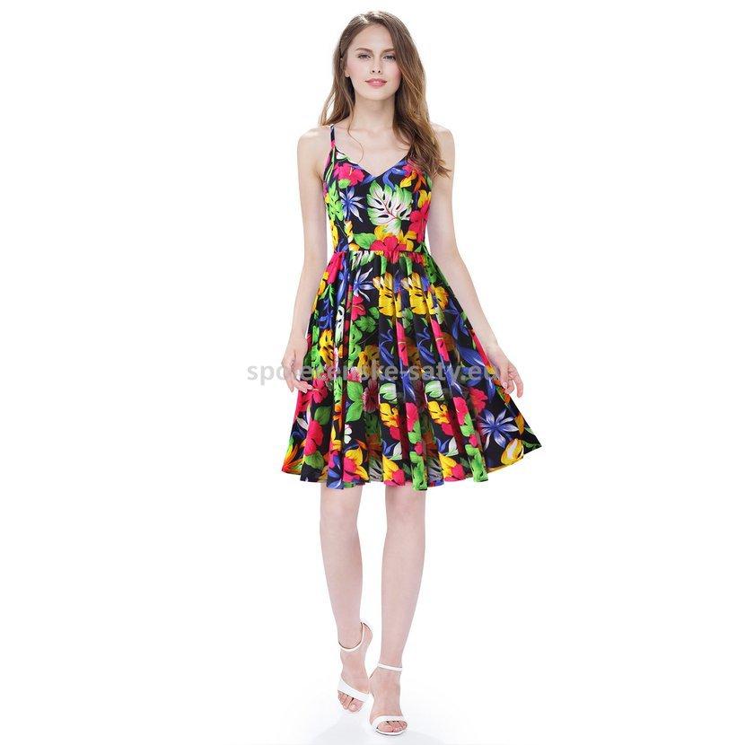 Barevné krátké letní šaty 36 S  e09c4716b5
