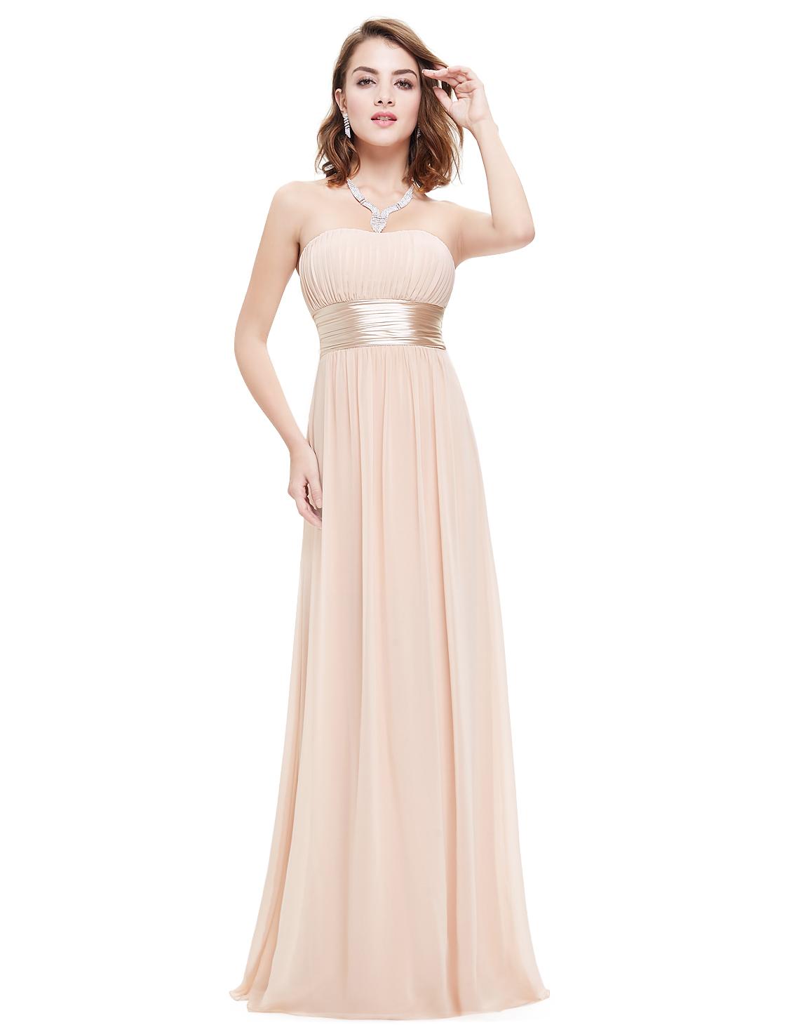 8f962e42e4f6 Béžové dlouhé společenské šaty na svatbu pro družičku svědkyni 44 XXL