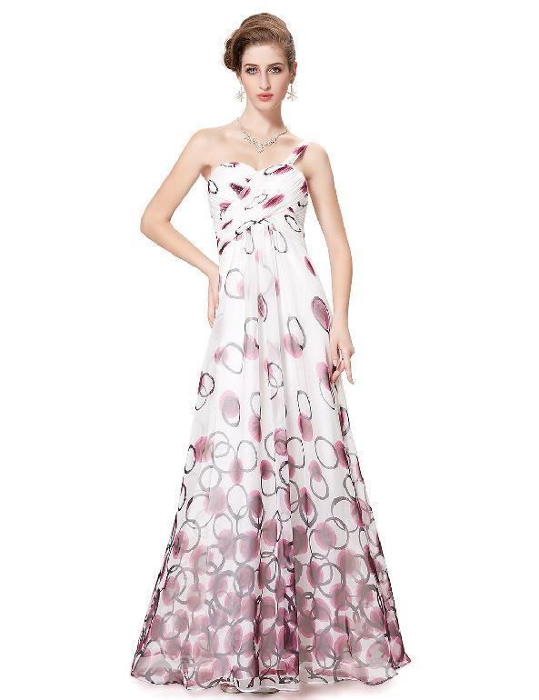 Bílé dlouhé letní šaty s na jedno rameno 34 XS  53fd031d991