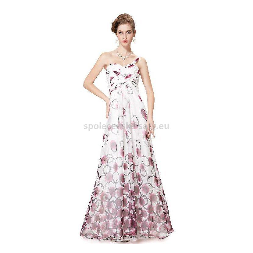 Bílé dlouhé letní šaty s na jedno rameno 34 XS  ad143bdc5a