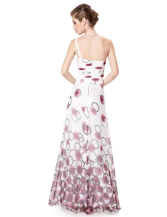 02ea623fd1e Bílé dlouhé letní šaty s na jedno rameno 34 XS