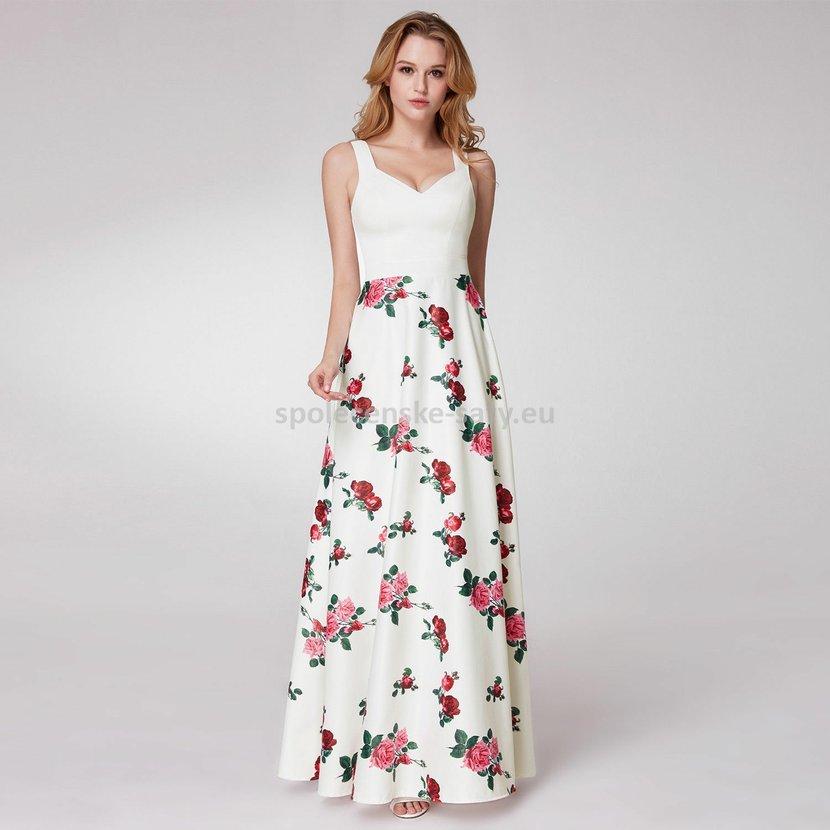 Bílé dlouhé letní společenské šaty na svatbu 38-40  acc7a65d03