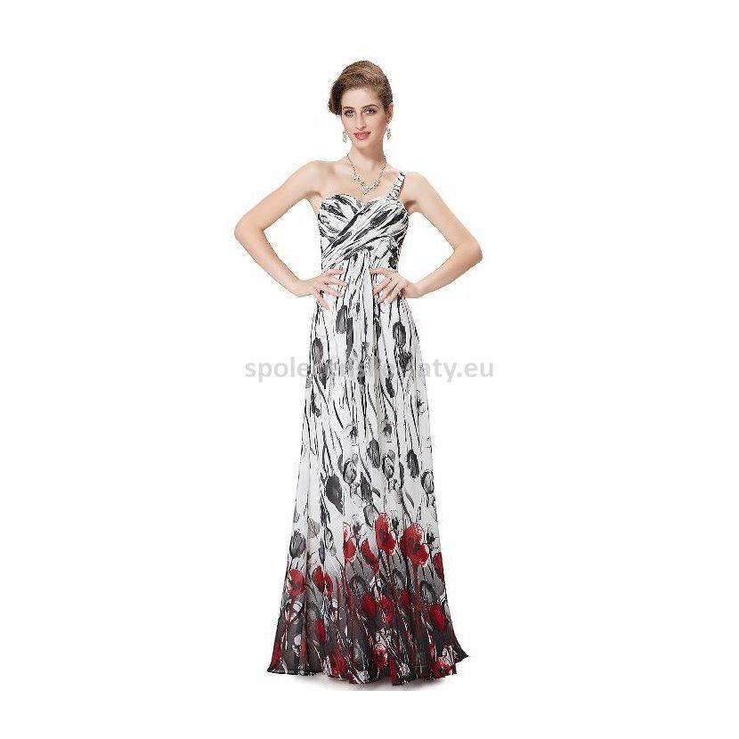 Bílé dlouhé letní šaty s na jedno rameno 34 XS  4e1720dd07