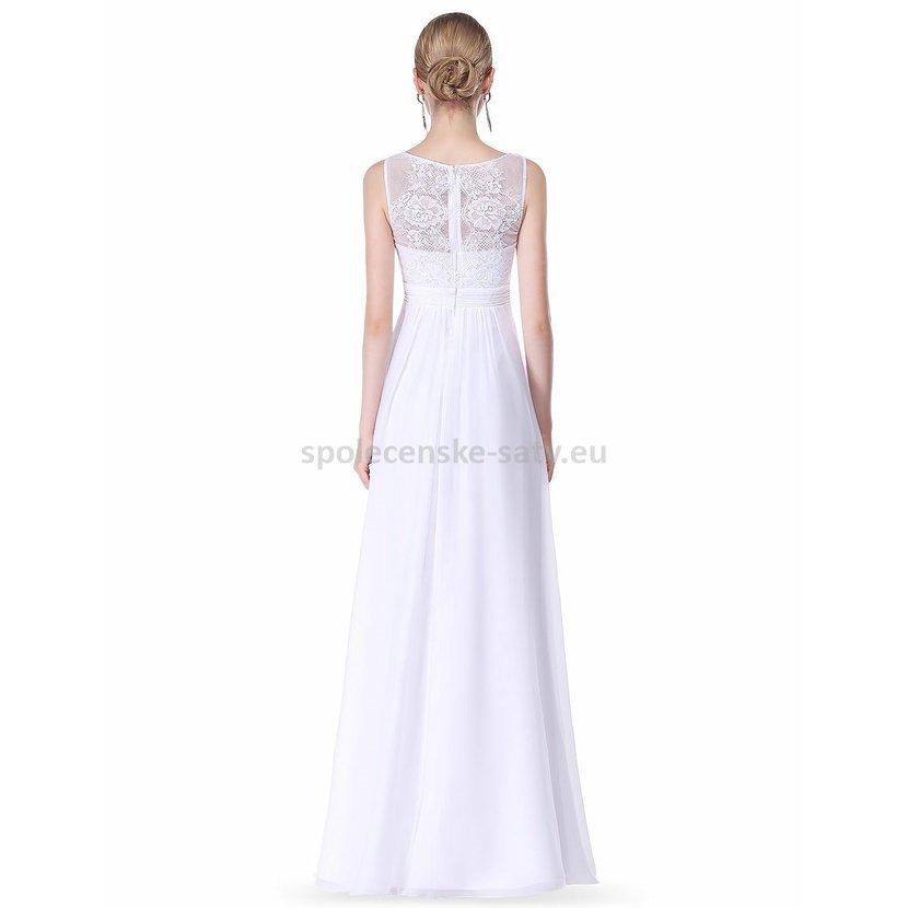 ddd1c6a4298 Svatební šaty na hrubší ramínka s krajkou 42