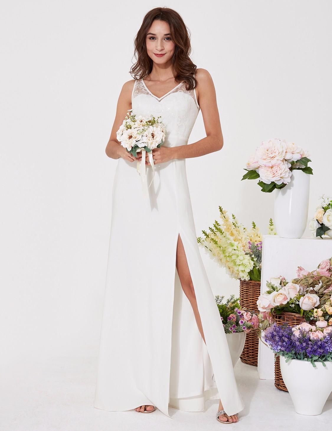 452ebf58fbe4 Levné svatební šaty dlouhé krátké větší velikosti