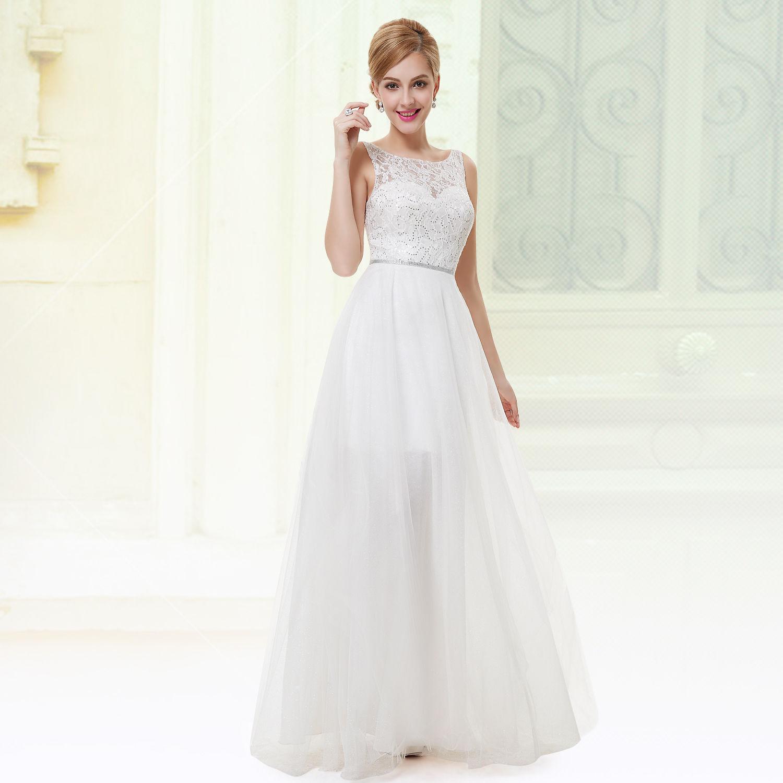667c9fa1936 Levné svatební šaty bílé šaty do tanečních na věneček