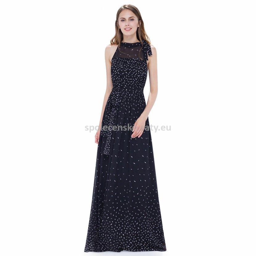 Černé dlouhé letní maxi šaty boho vintage těhotné 38-40  8d73e0832b