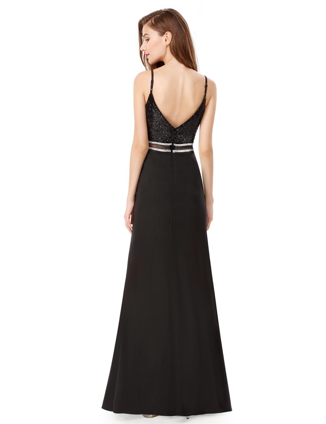 1b7dfda3874 Černé dlouhé sexy šaty holá záda 42 XL