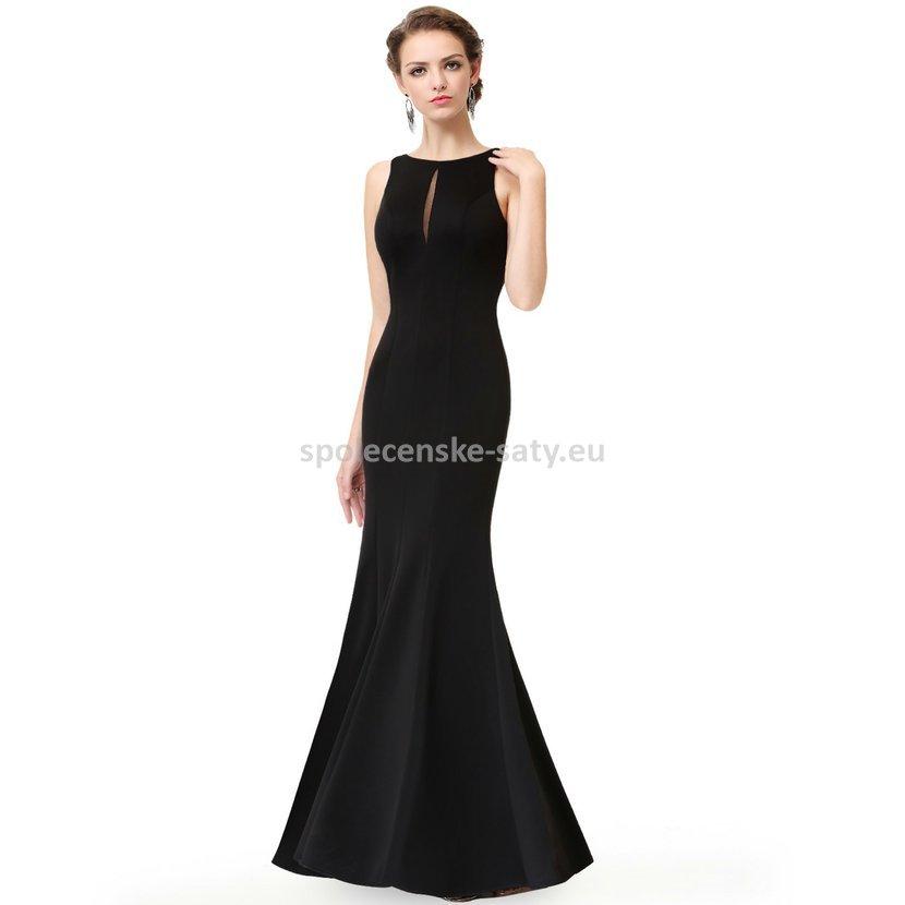 Černé dlouhé pouzdrové šaty na ples sexy 42 xl  b96f67d3e8