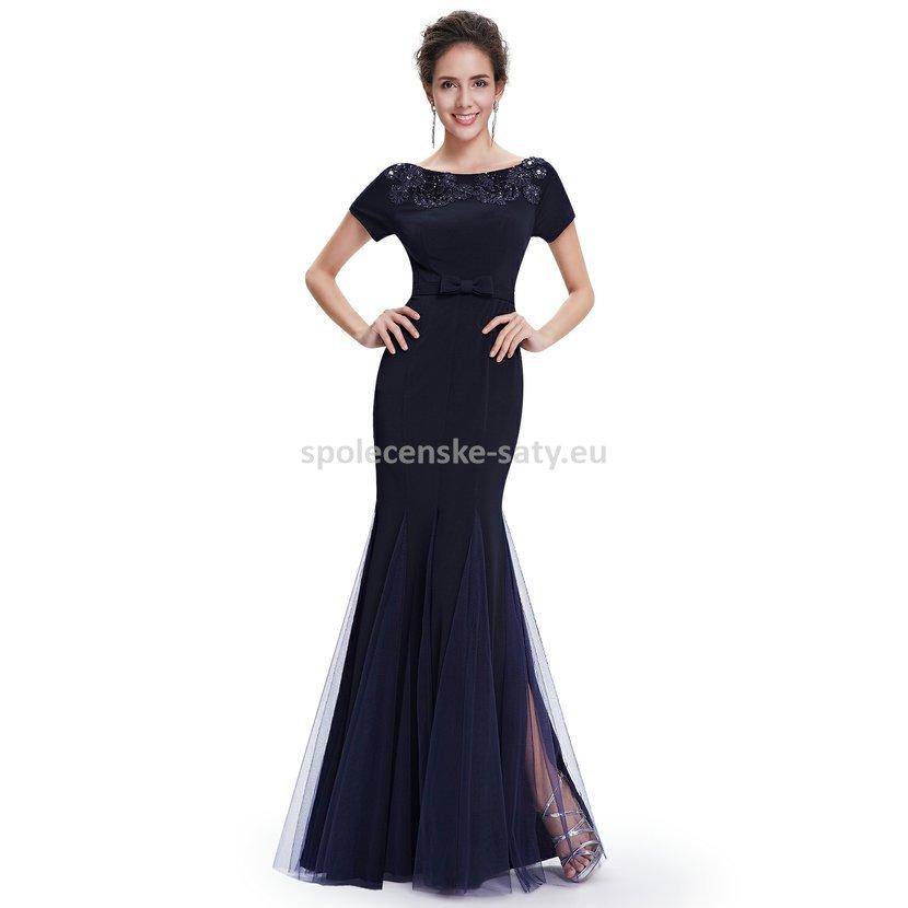 Černé dlouhé pouzdrové šaty s rukávem strečové 34 XS  3a04945ce30