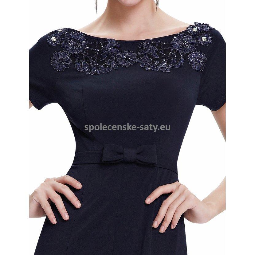811bc4bc285f Černé dlouhé pouzdrové šaty s rukávem strečové 34 XS