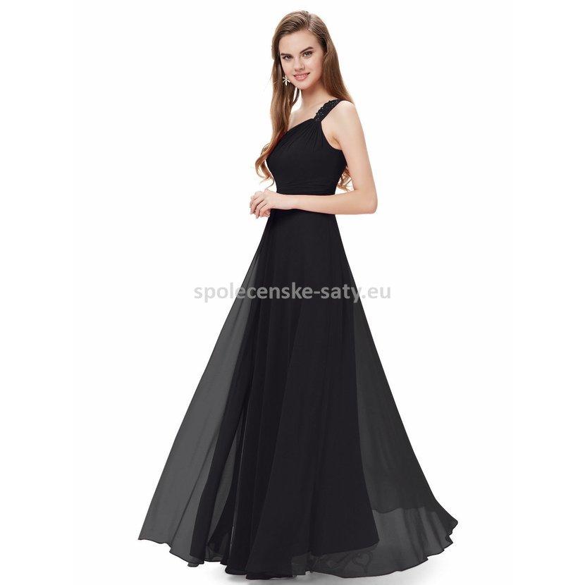 Černé dlouhé šaty na ples na svatbu do tanečních 46 xxxl ... b2e91b7bf9