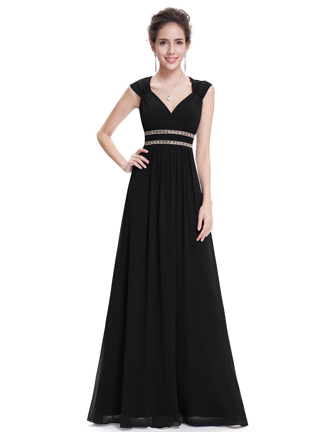 Černé dlouhé společenské šaty ve stylu řecké bohyně 40 L ... 120a55905e