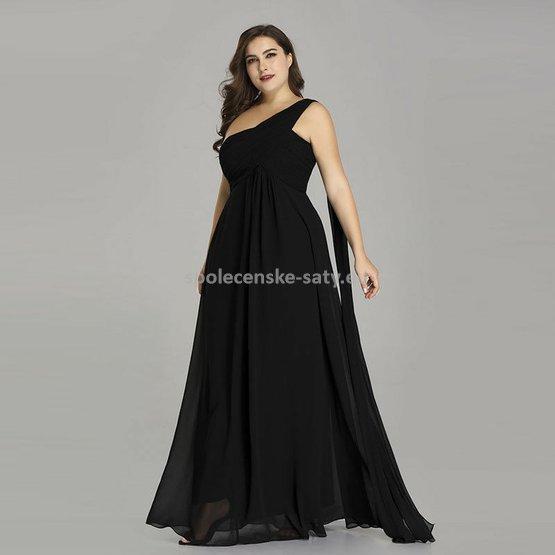 Černé dlouhé společenské šaty na rameno empírové i pro těhotné ... 155df88fee
