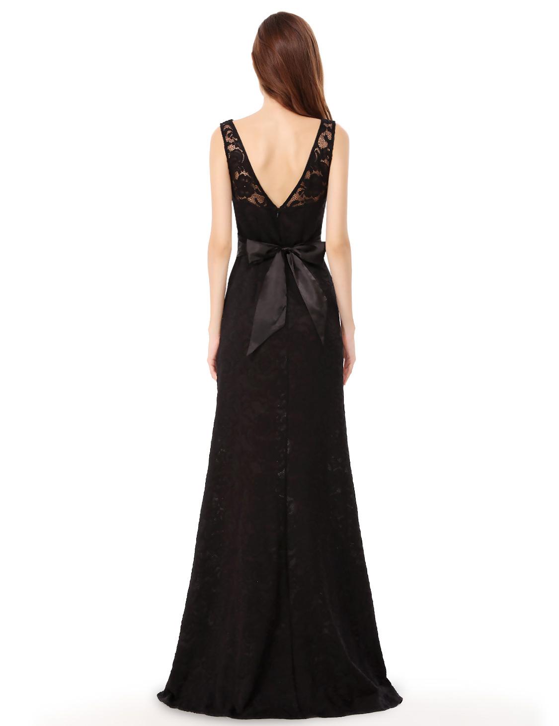 51d258304690 Černé dlouhé sexy šaty s rozparekm zeštíhlující 42 xl