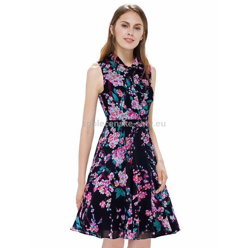 9c6a86ebe5d Krátké letní společenské šaty na ramínka 40 L