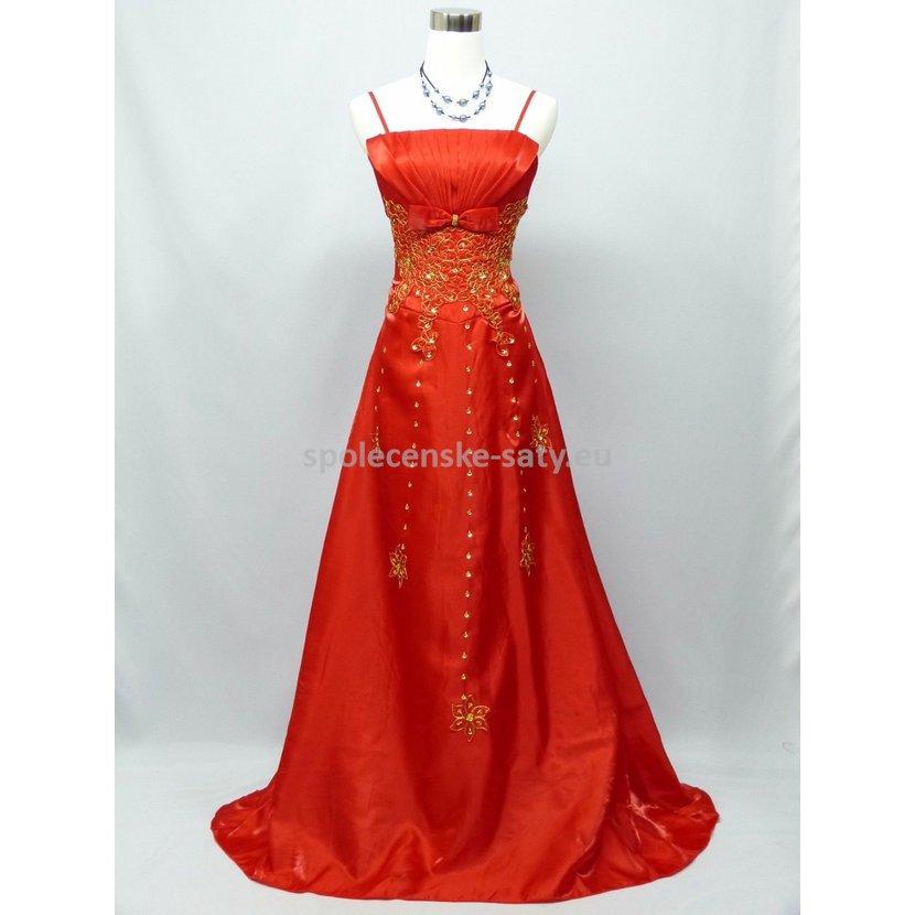 ce06818662b2 Červené dlouhé společenské svatební plesové šaty pro plnoštíhlé 48 ...