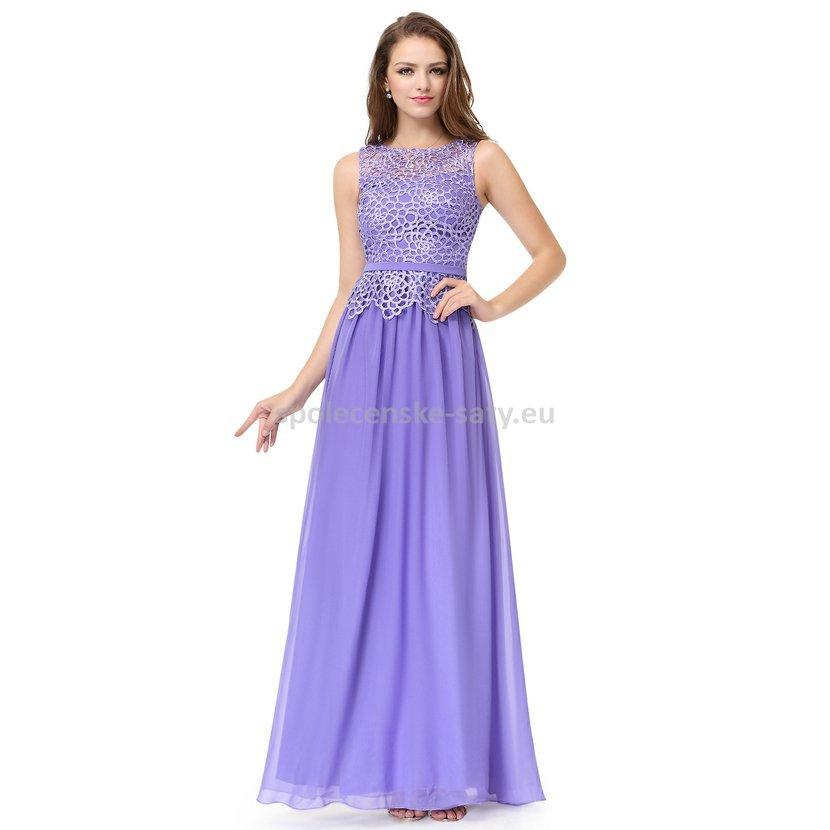 Fialové dlouhé šaty na ples svatbu 34  6fbd384f3f