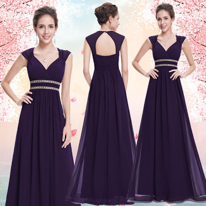 0b2866d6852 Fialové dlouhé společenské šaty ve stylu řecké bohyně 36 S ...