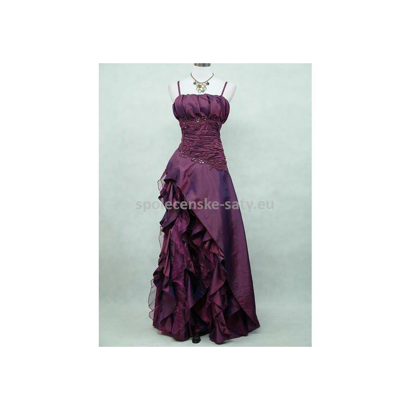 100c1dc7e023 Fialové dlouhé romantické šaty na ples pro baculky plnoštíhlé 48-50 ...