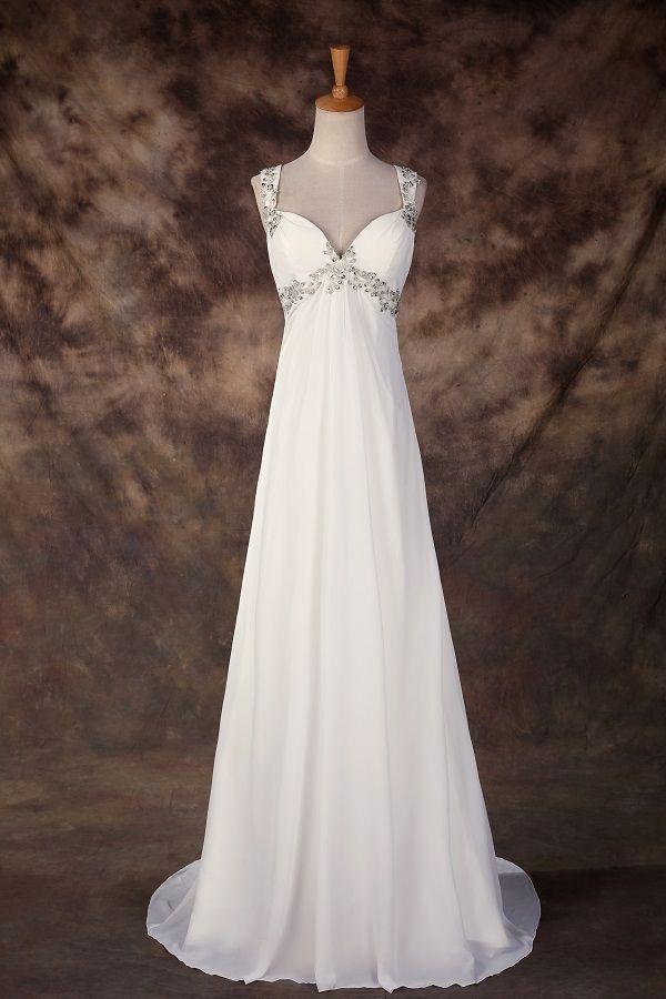 Levné svatební šaty bílé šaty do tanečních na věneček  c7008361d33